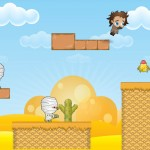 platform game background, characters and assets