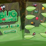 Jumping mobile game background, characters and assets