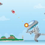 side scrolling shooter game background, characters and assets