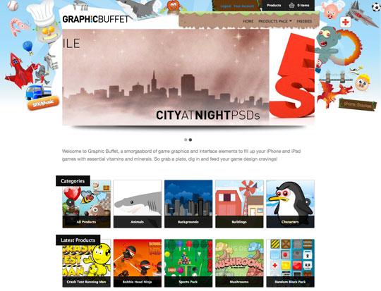 Graphic Buffet Website screen
