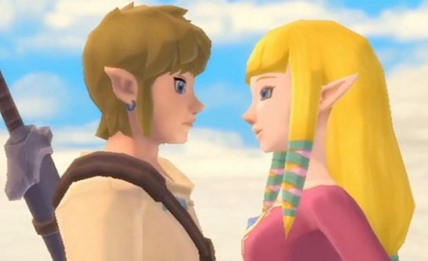 Link and Zelda loved up Video Game Characters