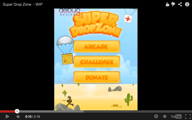 Super Drop Zone Screen shot