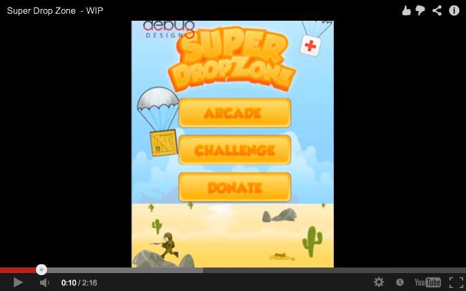 Super Drop Zone Screen shot