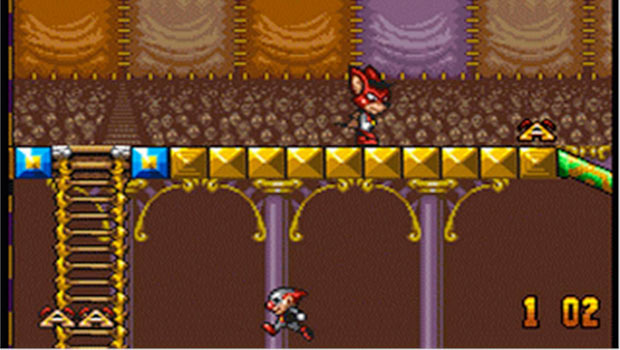 Aero The Acrobat Retro Game Character