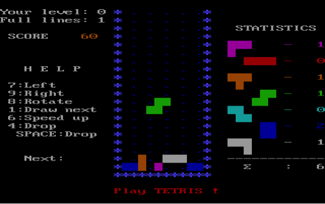 Tetris Retro game
