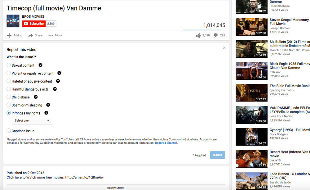 YouTube-Copyright-report