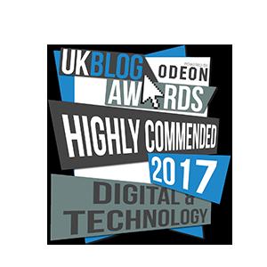 UK Blog Awards - Highly Commended