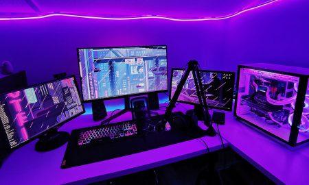 purple-gaming-setup